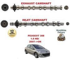 FOR PEUGEOT 308 1.6 HDi 2007-->ON NEW INLET & EXHAUST ENGINE CAMSHAFT