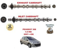 FOR PEUGEOT 308 1.6 HDi 2007 >ON NEW INLET & EXHAUST ENGINE CAMSHAFT