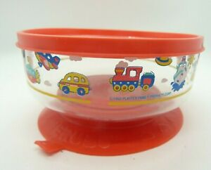 Vintage Playtex 1993 Cherubs Baby Feeding Bowl Toddler Suction Cup Dish with Lid