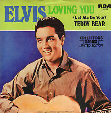 "ELVIS PRESLEY - Loving You/Teddybear (1977 US VINYL SINGLE 7"" COLLECTORS SERIES)"
