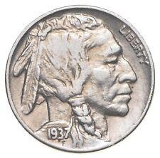 FULL HORN - High Grade - TOUGH - 1937 Buffalo Nickel - Sharp Coin! *150