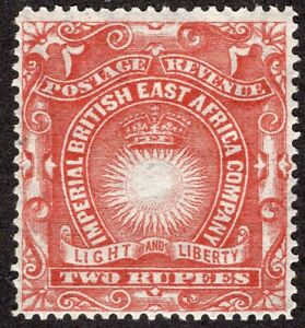 BRITISH EAST AFRICA 1890/4 STAMP Sc. # 27 MLH WITH WMK
