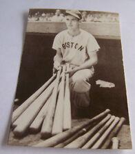 Vintage RPPC Real Photo Postcard Baseball Ted Williams Boston Red Sox w Bats