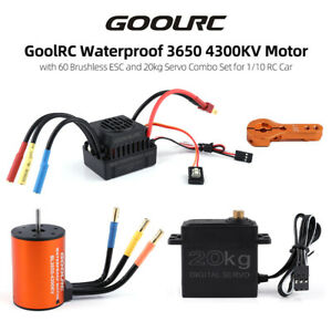 GoolRC Combo Set 3650 4300KV Motor und Brushless ESC mit 20KG Servo Wasserdichte
