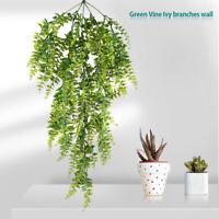 Plantes artificielles Faux vert vigne guirlande de fleurs mariage mur de lierre