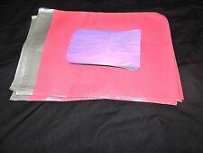 20 Pink 12x15 Flat Poly Mailer Envelopes, Self Sealing Shipping Bag Mailing USPS