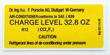 PORSCHE 911 964 Aria Condizionata Charge Level Adesivo Decalcomania