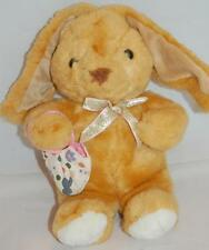 """Golden Brown Easter Bunny Rabbit Pink White Floral Tulip Purse Bow Plush Toy 13"""""""