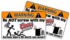 Coor Light Beer Warning Sticker Decal Funny Guy Racing