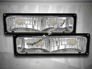 88-98 CHEVY / GMC C10 FULL SIZE TRUCK CLEAR BUMPER LIGHTS PARKING SIGNAL LAMPS