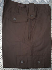 "BROWN Military Style Combat Cargo / Utility / Field Trousers Size 30""-34"" - NEW"