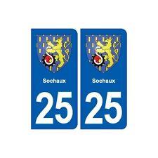 25 Sochaux blason autocollant plaque stickers arrondis