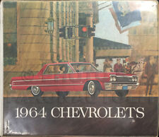 1964 Chevy Car Color and Upholstery Dealer Album Chevrolet Showroom Book
