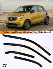 For Smart Forfour 2015-, Windows Visors Deflector Sun Rain Guard Vent