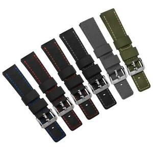 ZULUDIVER Waterproof Diver's Nylon Watch Strap with contrast Stitch 20mm or 22mm