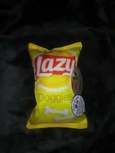 *NEW* SPOT FUN FOOD *LAZY DOGGIES*  TOY BAG OF CHIPS FOR DOGS