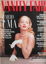 UMA THURMAN  January 1996 VANITY FAIR Magazine JENNIFER EHLE  NAOMI CAMPBELL