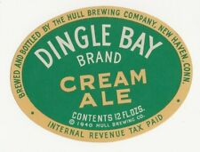 Hull Brewing Dingle Bay Cream Ale label Irtp New Haven Ct
