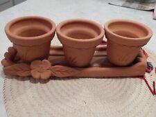 Pottery Barn Pots Terra Cotta set of 3 holder herbs