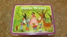 VINTAGE Disney Snow White & the Seven Dwarfs  Metal Tin Lunchbox No Thermos