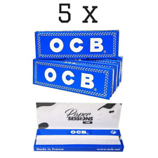 OCB Kurz Blau 5 Hefte je 50 Blatt Papers Zigarettenpapier