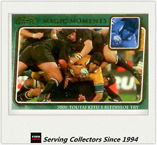 2003 Kryptyx Rugby Union Trading Cards Magic Moment:MM7:01 T.K' Bledisloe Try