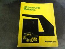 Payhauler 350 Series C Truck Operator's Manual