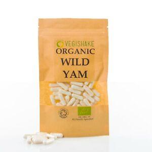 Organic Wild Yam HPMC Capsules Estrogen Oestrogen Therapy PMS, Menstrual Cramps