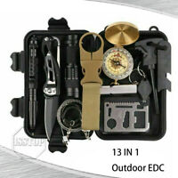 SOS 13 In 1 Outdoor Emergency Survival Gear Kit Camping Tactical Backpack EDC