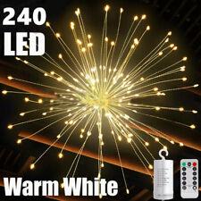 240LED Hanging Decor Lights Starburst Fireworks Fairy String Lamp with Remote US