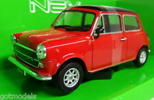 Nex models 1/24 Scale 22496W Mini Cooper 1300 Red / Black Diecast model car