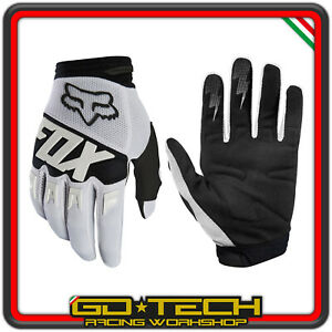 GUANTI FOX DIRTPAW 2020 Bianco Nero MOTO CROSS ENDURO MOTARD ATV BICI MTB BMX