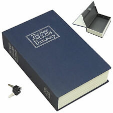 New NAVY Creative Key Lock Dictionary Book Hidden Safe Hide Cash Stuffs (Small S