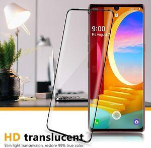 3D Curved Case-Friendly LG Wing 5G,Velvet,V50 5G Tempered Glass Screen Protector