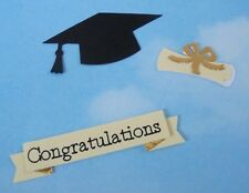 Die Cut x 4 sets, layered graduation cap toppers, scroll, diploma, scrapbooking
