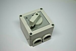 Kraus & Naimer 2 Position 60 Deg. Rotary Switch In Enclosure CA10-A211-920-PF1