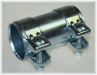 1x BayWorld Auspuff Universal Rohrverbinder 60x64,5x125mm Doppelschelle 60x125mm