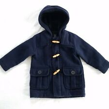 Baby Gap Boys Wool Blend Toggle Coat Size 2T Winter Navy Blue Peacoat