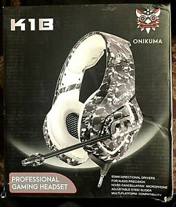 ONIKUMA K1-B High Professional Gaming Headset Gray Camo design