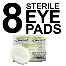8 x STERILE EYE PADS RAYON & POLYESTER ABSORBENT FABRIC First Aid
