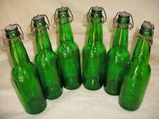 Antique Green Swing Top Beer Bottles T.B Co. Detroit Tivoli Brewing Co. ? 6 Pack