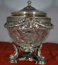 Russian Antique Vase (Ikornitsa) by Morozov Factory Pure Silver and Glass