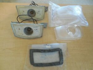 1956 FORD PICKUP TRUCK F1 F2 F3 PARK LIGHT  HOUSINGS & LENSES w/ GASKETS
