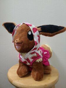 Eevee Pokemon Build A Bear BAB Gently Used With Sound/ BAB Watermelon Dress