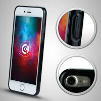SILIKON CASE SCHWARZ für iPhone 7 Hülle Schutzhülle TPU Thin Silicon Stoßfest