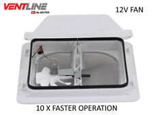 "VENTLINE E-Z LIFT VENTADOME 355 X 355 14 x 14"" 12v exhaust fan caravan switch"