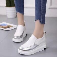 US8 Women's Platform Hidden Heel Athletic Casual Shoes Fashion Sneakers Creepers