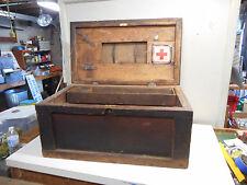 L1647- Antique Wooden Tool Box Carpenter Primitive Garage Find