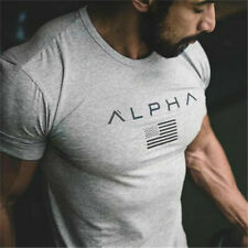 Men's Sports Cotton T-shirt Gym Bodybuilding Shirt Fitness Shirt Sportswear