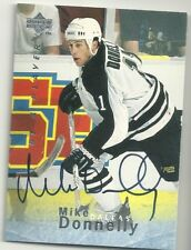 Mike Donnelly Dallas Stars U.D. Be A Player Certified Autograph Hockey Card